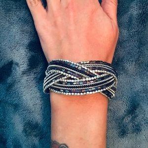 Iridescent Purple Beaded Bracelet